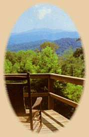 View from our Gatlinburg cabins